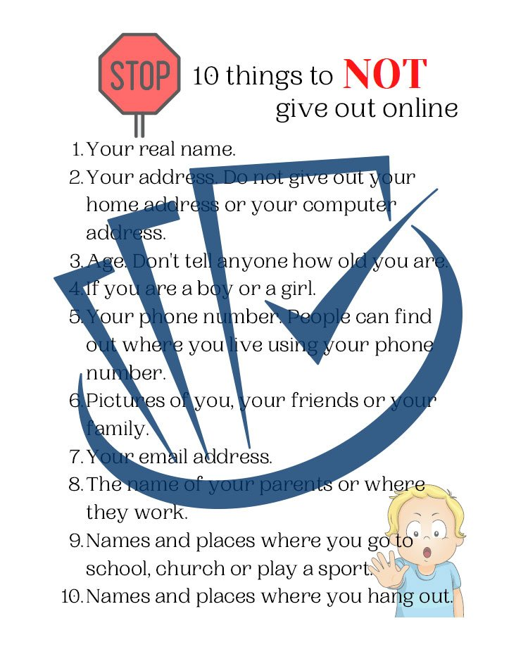 Popup Preview Of 10 Things To Not Give Out Online