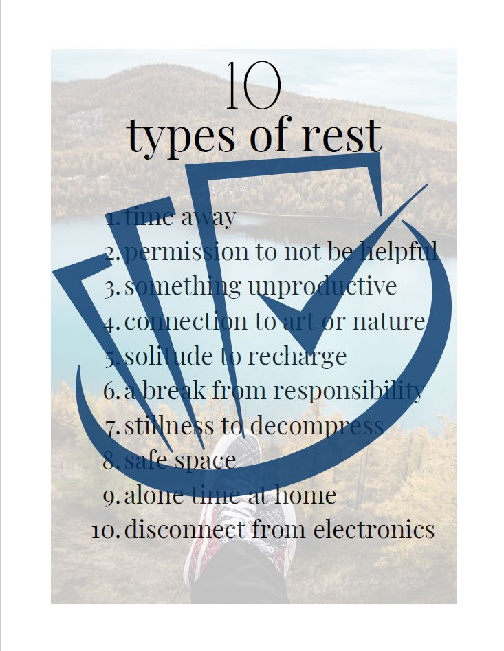 Popup Preview Of 10 Types Of Rest