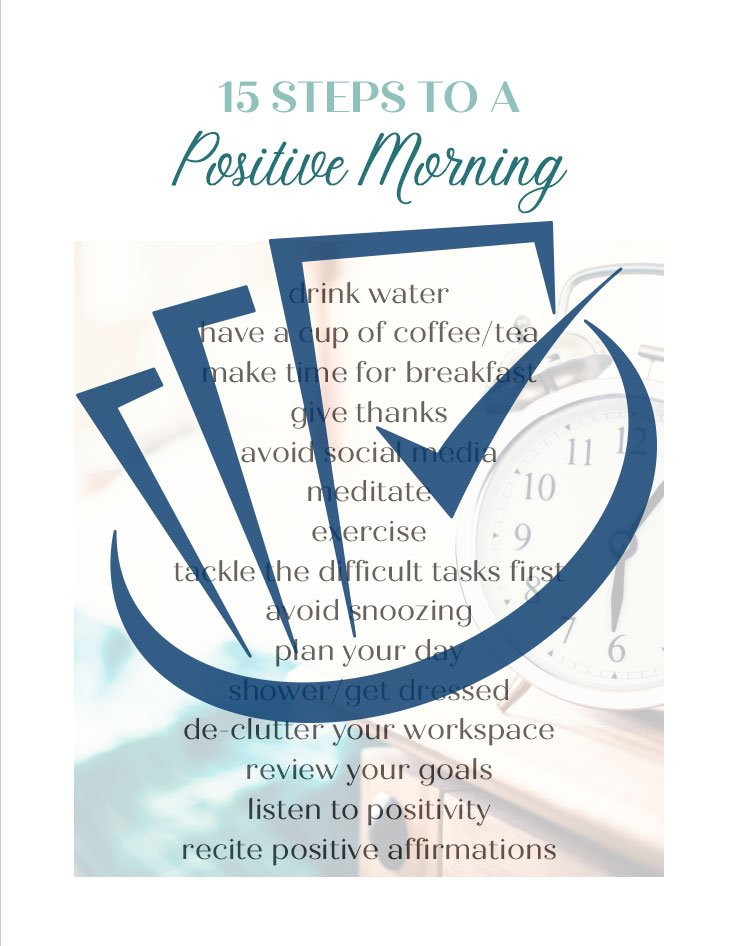 Popup Preview Of 15 Steps To A Positive Morning