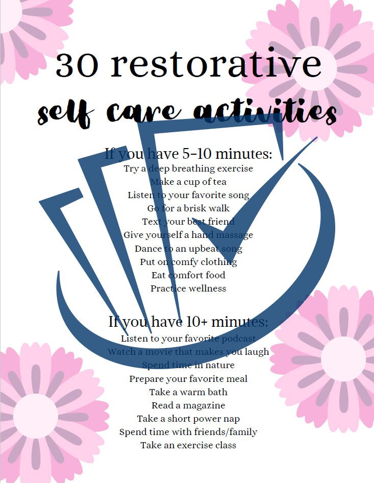 Popup Preview Of 30 Restorative Self-Care
