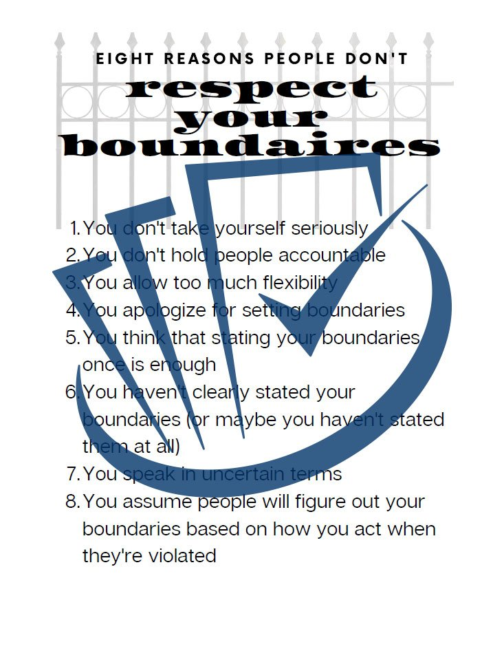 Popup Preview Of 8 Reasons Why People Don't Respect Your Boundaries