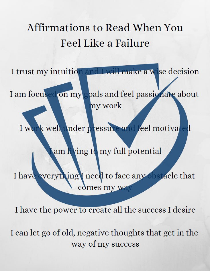 Popup Preview Of Affirmations To Read When You Feel Like A Failure