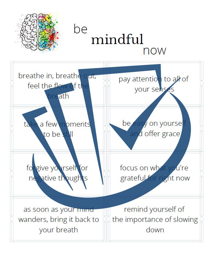 Popup Preview Of Be Mindful Now