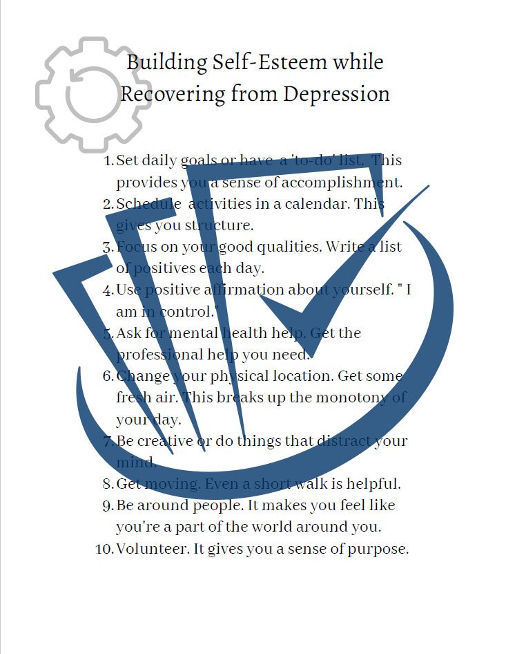 Popup Preview Of Building Self-Esteem Recovering From Depression