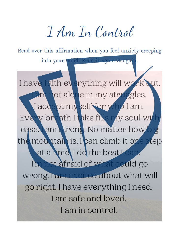 Popup Preview Of I Am In Control