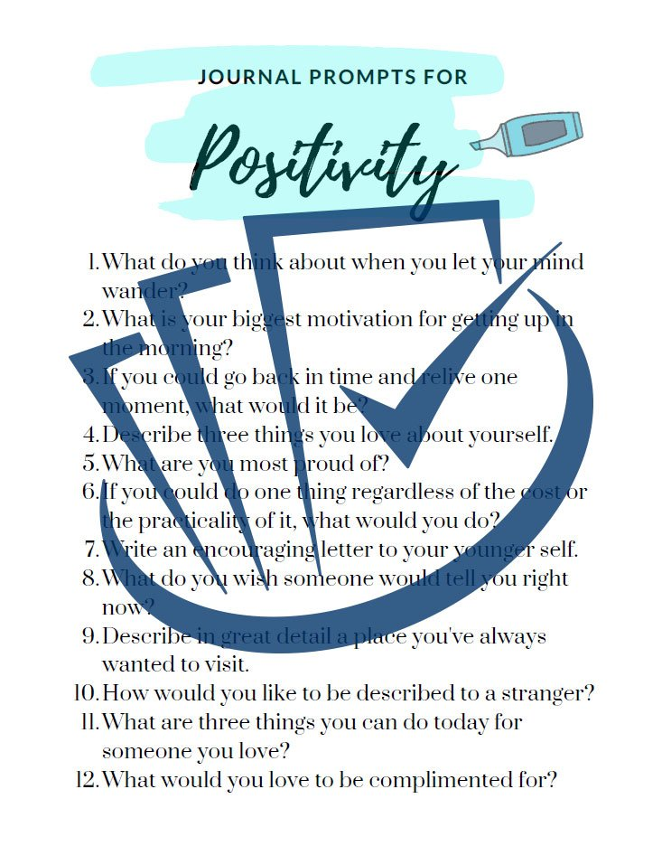 Popup Preview Of Journal Prompts For Positivity