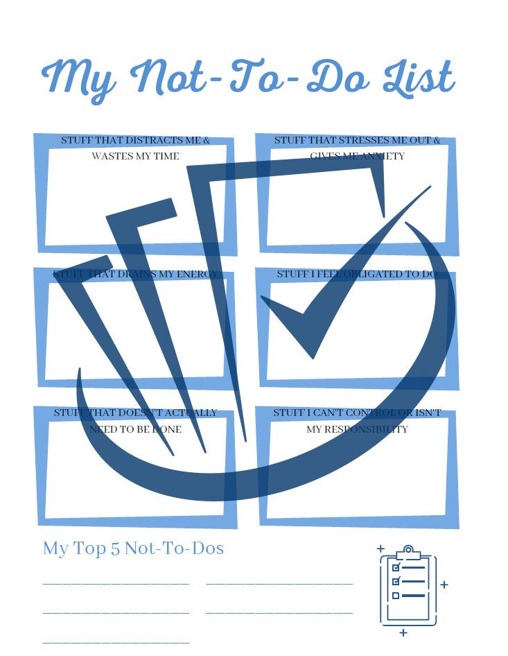 Popup Preview Of My Not To Do List