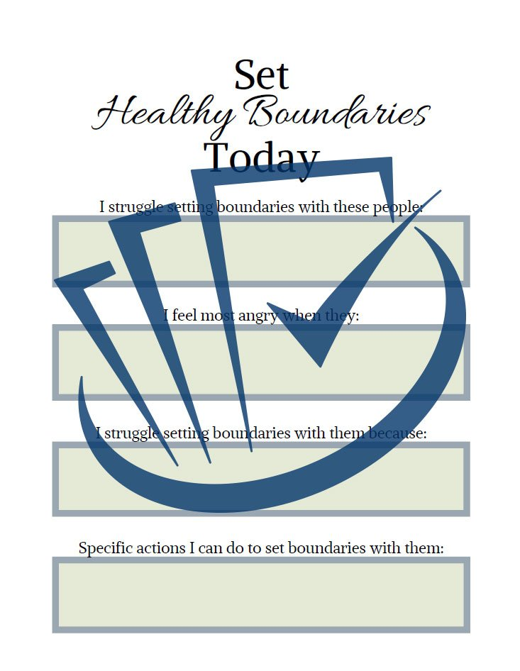 Popup Preview Of Set Healthy Boundaries Today