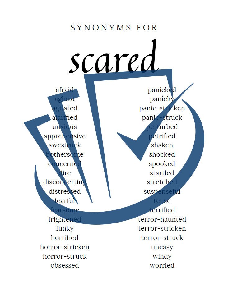 Popup Preview Of Synonyms For Scared