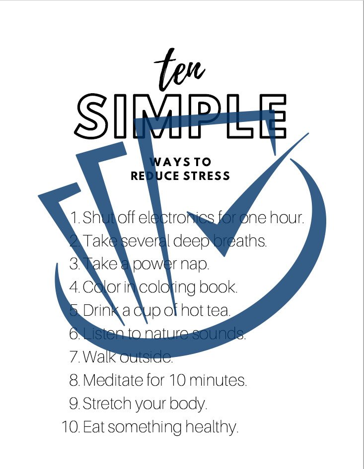 Popup Preview Of Ten Simple Ways To Reduce Stress