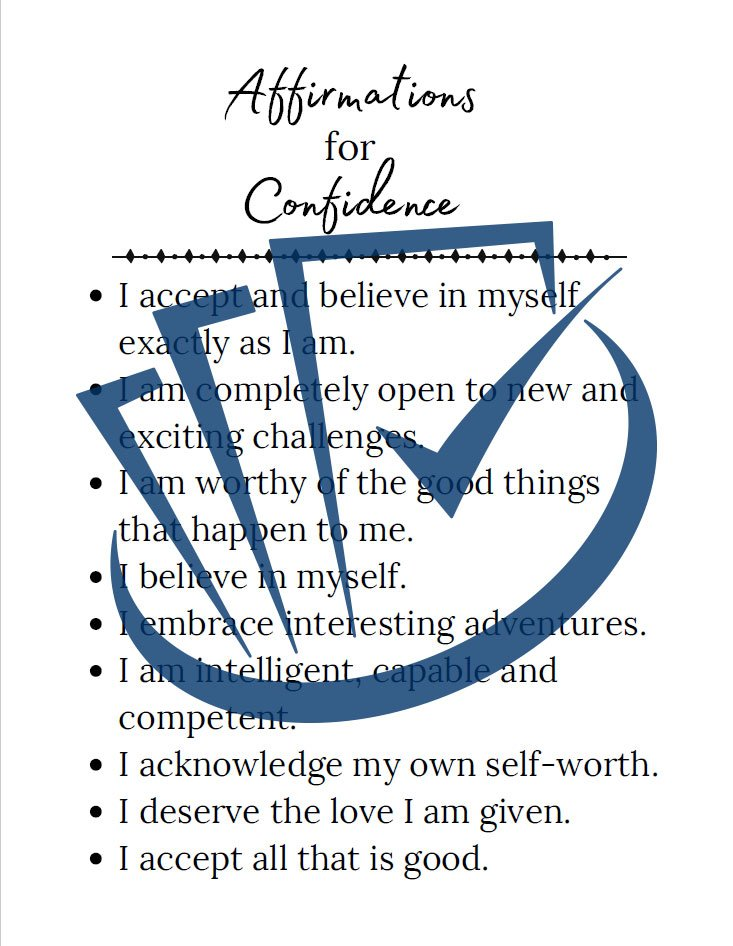 Popup Preview Of Affirmation For Confidence