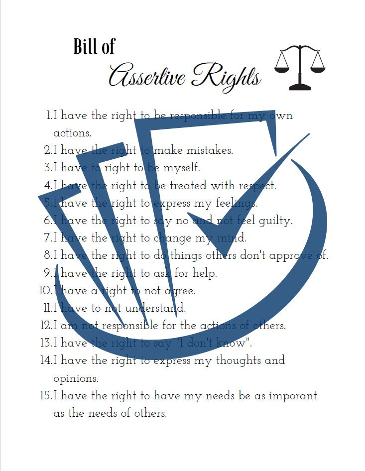 Popup Preview Of Bills Of Assertive Rights