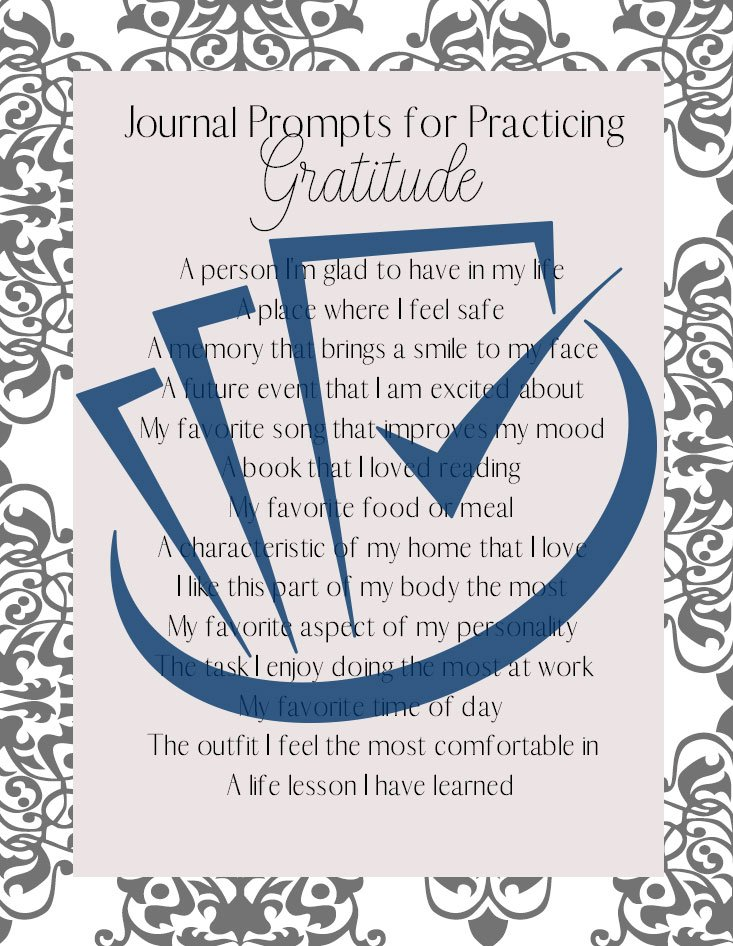 Popup Preview Of Journal Prompts For Practicing Gratitude