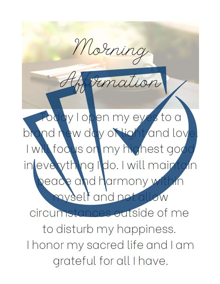 Popup Preview Of Morning Affirmation