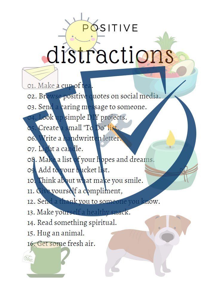 Popup Preview Of Positive Distractions