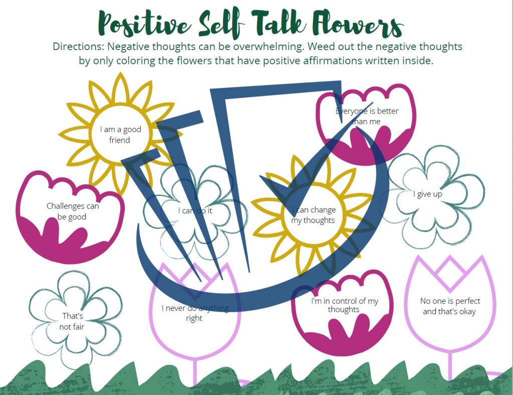 Popup Preview Of Positive Self Talk Flowers