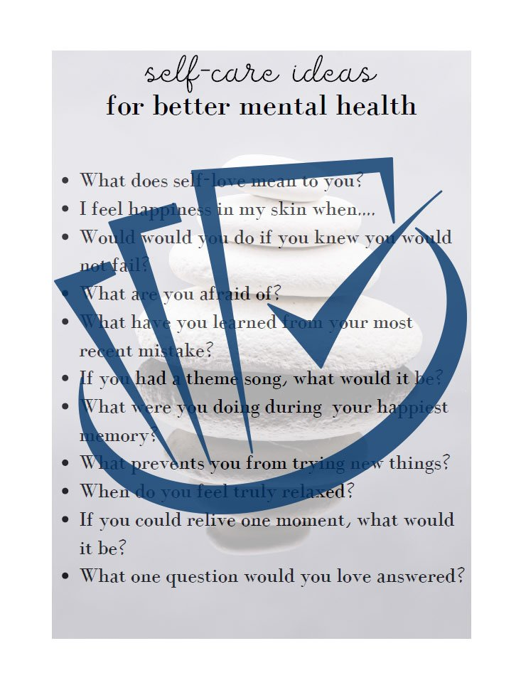 Popup Preview Of Self Care Ideas For Better Mental Health
