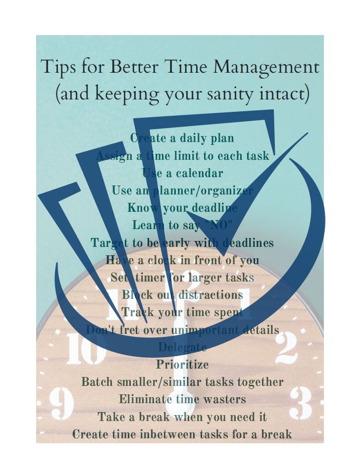 Popup Preview Of Tips For Better Time Management (And Keeping Your Sanity Intact)