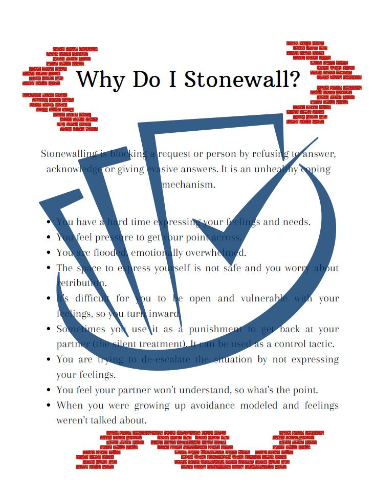 Popup Preview Of Why Do I Stonewall
